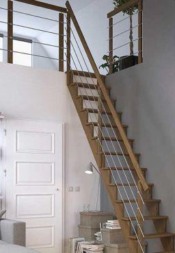 Gelænder til trappe LYON lakeret eg
