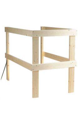 Rækværk til top af lofttrappe max. 140 x 70 cm