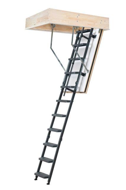 Brandgodkendt lofttrappe  REI 45 comfort med stålstige