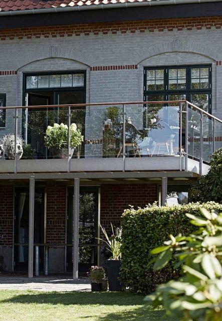 Modulterrasse til bolig med høj kælder