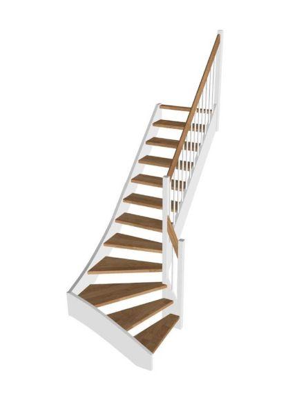 STOCKHOLM egetrin/hvid kvartsvingstrappe